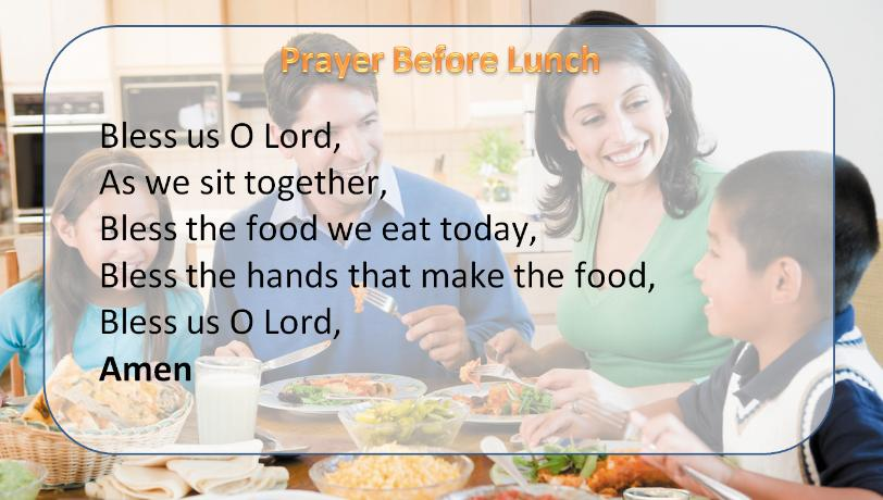 prayer before lunch