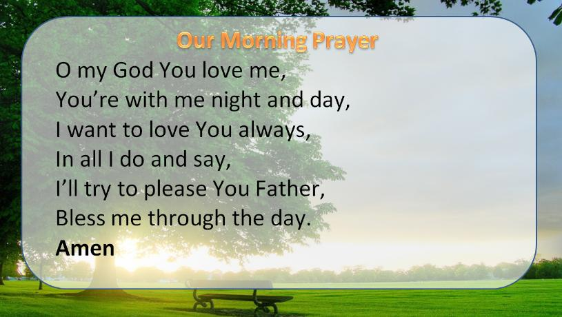 prayer morning prayer